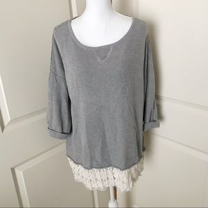 OLIVIA SKY Oversized Lace Sweater SZ 2X